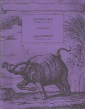 Alain Sinibaldi Librairie Henner Livres rares du XVIe au XXe siècle Octobre 2008