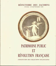 Patrimoine public et Révolution Française. Collections toulousaines