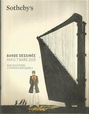 """Sotheby's Bande dessinée Paris 7 mars 2015 Quelques duos """"transatlantiques"""""""