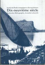 Société des Etudes romantiques et dix-neuviémistes Dix-neuvième siècle n° 45