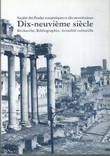 Société des Etudes romantiques et dix-neuviémistes Dix-neuvième siècle n° 46