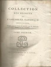 Collection des décrets de l'Assemblée Nationale Législative, 1792, 7 tomes