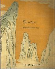 Christie's Art d'Asie, catalogue de la vente du mercredi 13 juin 2007