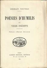 Germain Nouveau, Poésies d'Humilis et vers inédits