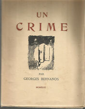 Georges Bernanos, Un crime, illustrations par Théo Van Elsen