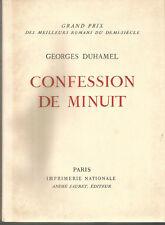 Georges Duhamel, Confession de minuit, numéroté sur vélin