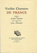 Vieilles chansons de France, bois originaux de Paul Lemagny
