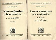 Charles Baudouin, L'âme enfantine et la psychanalyse, 2 tomes