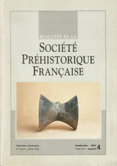 Bulletin de la Société Préhistorique Française Oct.-déc. 2001 Tome 98 numéro 4