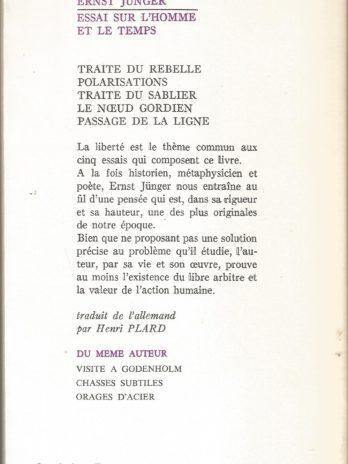 Ernst Jünger, Essai sur l'homme et le temps