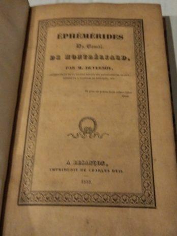 Ephémérides du comté de Montbéliard, par M. Duvernoy
