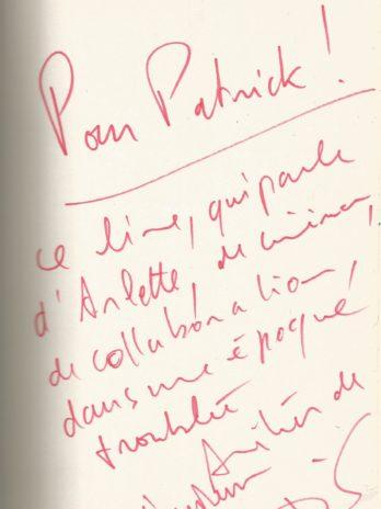 """Arletty """"Si mon cœur est français"""", David Alliot, Envoi autographe signé de l'auteur"""