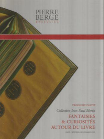 Collection Jean-Paul Morin (3e partie) Fantaisies & curiosités autour du livre
