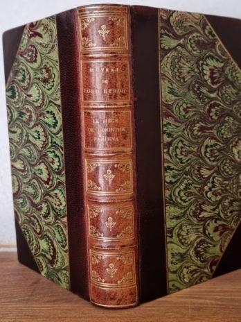 Lord Byron, Le siège de Corinthe, Parisina, Manfred, Le prisonnier de Chillon, Mazeppa etc.