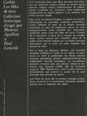 Les Filles de noce: Misère sexuelle et prostitution, aux 19e et 20e siècles, par Alain Corbin