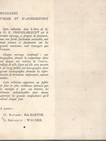 Claude Debussy, par Germaine & D.E. Inghelbrecht