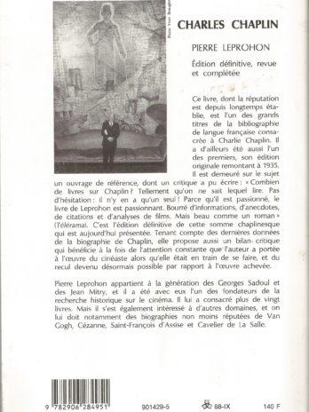Charles Chaplin, par Pierre Leprohon