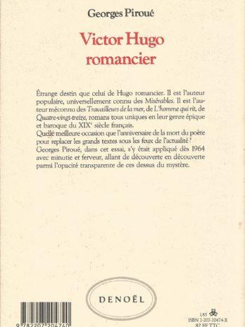 Georges Piroué, Victor Hugo romancier ou les dessus de l'inconnu
