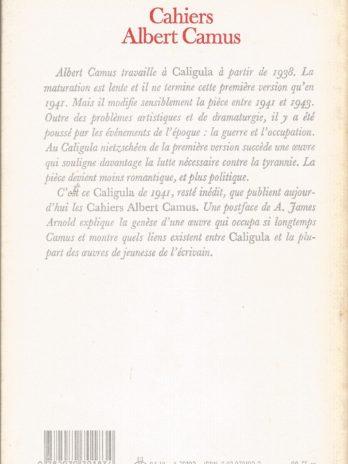 Cahiers Albert Camus n°4, Caligula version de 1941 suivi de La poétique du premier Caligula par A. James Arnold