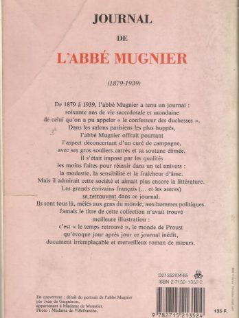 Journal de l'abbé Mugnier (1879-1939)