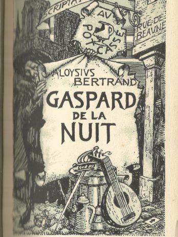 Aloysius Bertrand, Gaspard de la nuit