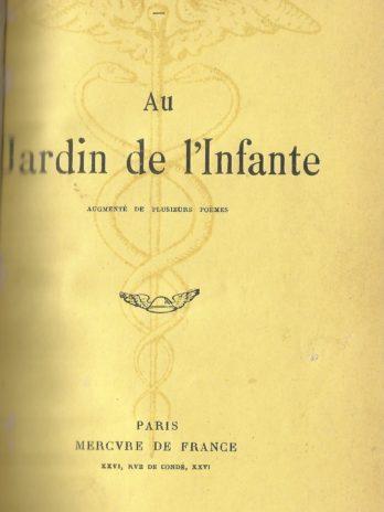 Albert Samain, Au jardin de l'infante, augmenté de plusieurs poèmes