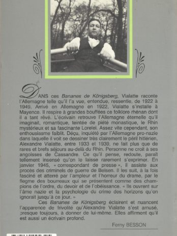 Alexandre Vialatte, Bananes de Königsberg